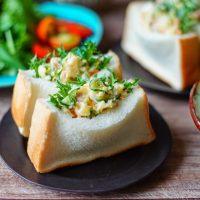 作り置きのポテトサラダを詰めるだけ!簡単「ポテサラポケットサンド」