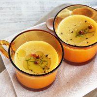 ほっこり秋色♪レンジで簡単「バターナッツのクリームポタージュ」