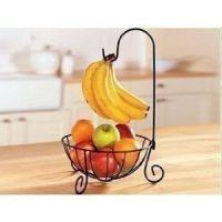 バナナもかけられる♪果物がおしゃれインテリア化する「フルーツバスケット」