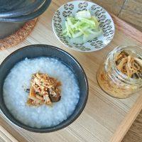 ほっこり♪和朝食の基本「お粥」と「梅昆布なめたけ」の作り方