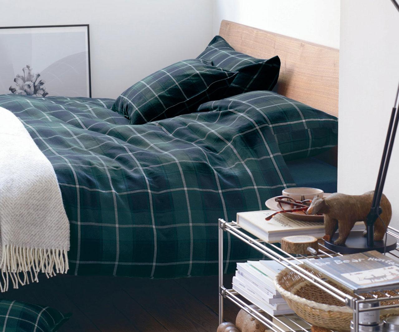 3月の無印良品週間で買ったインド綿高密度サテン織ホテル仕様の掛け布団カバーと枕カバー。
