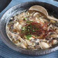 10分でできるヘルシーレシピ♪「豆腐ときのこの温か中華スープ」