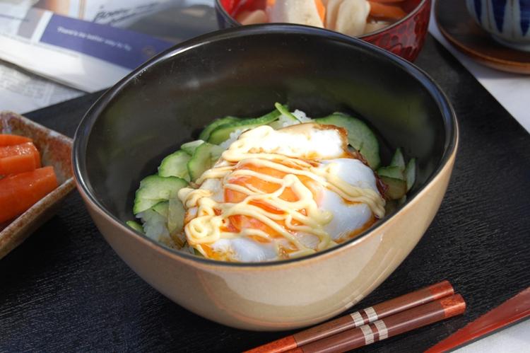 忙しい朝に最適☆とろ~り目玉焼き丼の画像