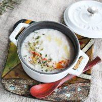 やさしい食感♪たった10分で簡単「ミルクとれんこんのすりおろしスープ」