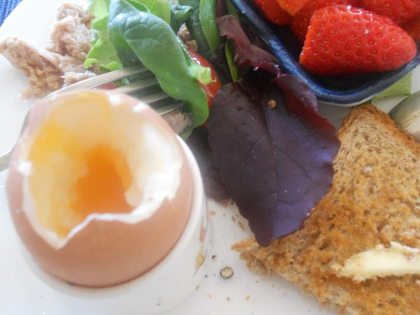 トロッとゆで卵朝食