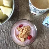朝食の定番、ヨーグルト