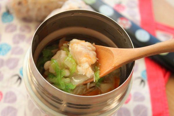 ささみと白菜のトロトロスープ 横