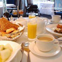 お祝いの日の朝食は歴史あるホテルで