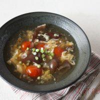 ぷるぷる食感♪ヘルシー食材「きくらげとトマトの中華スープ」