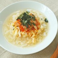 少しの材料で簡単!さらさらっと美味しい「スープかけごはん」