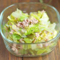作り置きなのにすぐ無くなるおいしさ!「春キャベツとツナの旨塩サラダ」