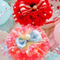 カーネーションの造花で・・・母の日ギフト、ハンドメイドアイデア♪