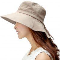 気になる首の日焼け対策に♪風が強い日も安心な「Siggi 日よけ帽子」