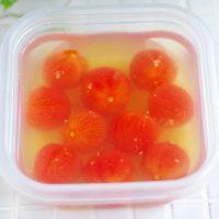 白だしで簡単!冷たい作り置き「プチトマトのだしびたし」