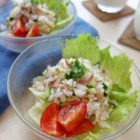 火を使わず簡単♪忙しい朝の3行レシピ「旬野菜のライスサラダ」