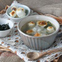 胃にやさしくボリューム満点「お餅とワカメのおろしスープ」