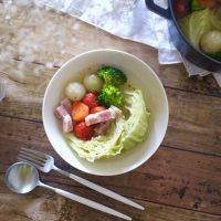 朝におすすめ「お花」コーデ術&簡単「野菜のポトフ」レシピ♪