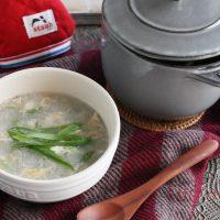 風邪予防に!5分でできちゃう「れんこんとネギのとろとろスープ」♪