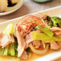 レンチンで時短!ご飯にかけても◎「チンゲン菜と豚肉の和風あんかけ」