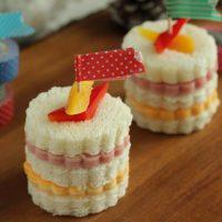 マスキングテープで簡単♪かわいい「パーティーサンドイッチ」の作り方