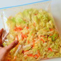 洗い物がラク!ビニール袋でシャカシャカ♪簡単「白菜とリンゴのサラダ」
