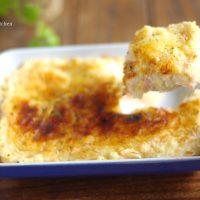 クリスマスは温め直すだけ!「サーモンとポテトのチーズ焼き」の作り置き