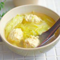 ついでに作り置き!簡単「鶏団子と白菜のポカポカ生姜スープ」