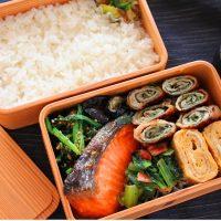 面倒な下茹で不要!「小松菜とベーコンの黒こしょう炒め」のお弁当