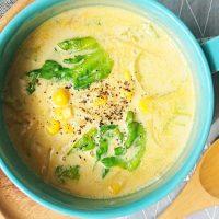 包丁いらずで楽ちん♪お鍋ひとつで朝10分「カレースープパスタ」