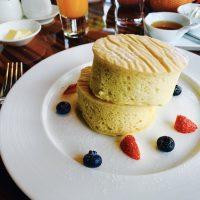 ふかふかっ!厚めなパンケーキを召し上がれ♪ホテル朝食☆【マンダリンオリエンタル】