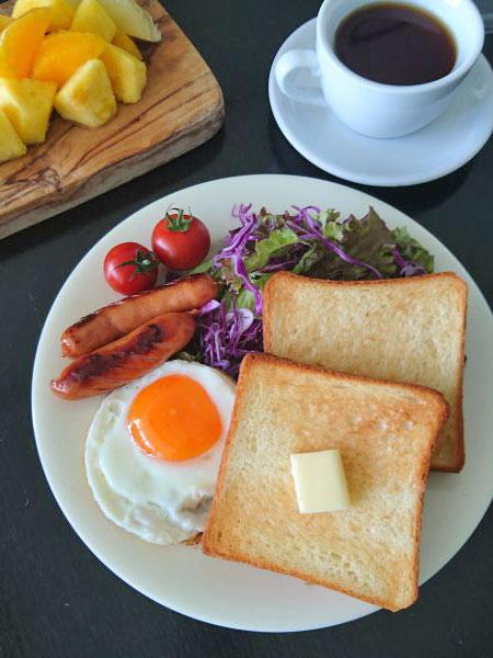 トーストを使わないトースト朝食