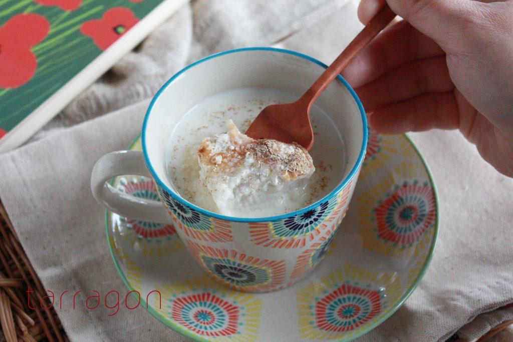 朝5分で完成!さらっとした甘さがおいしい「ミルクシナモン汁粉」♪