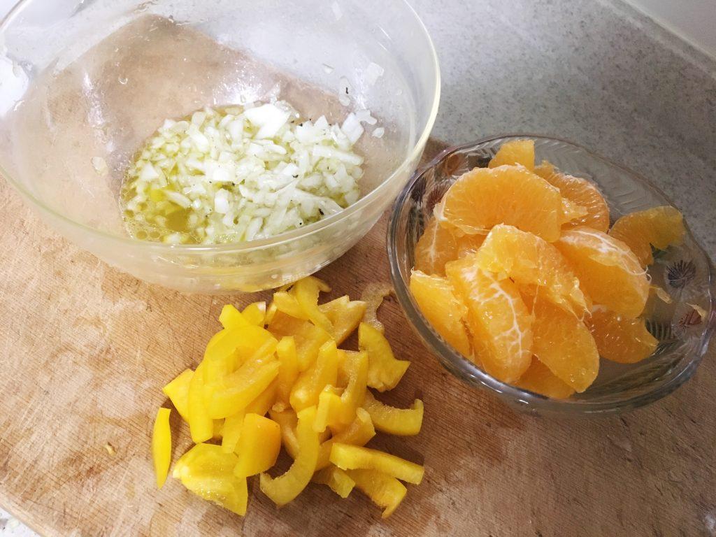 柑橘系シトラスマリネの材料