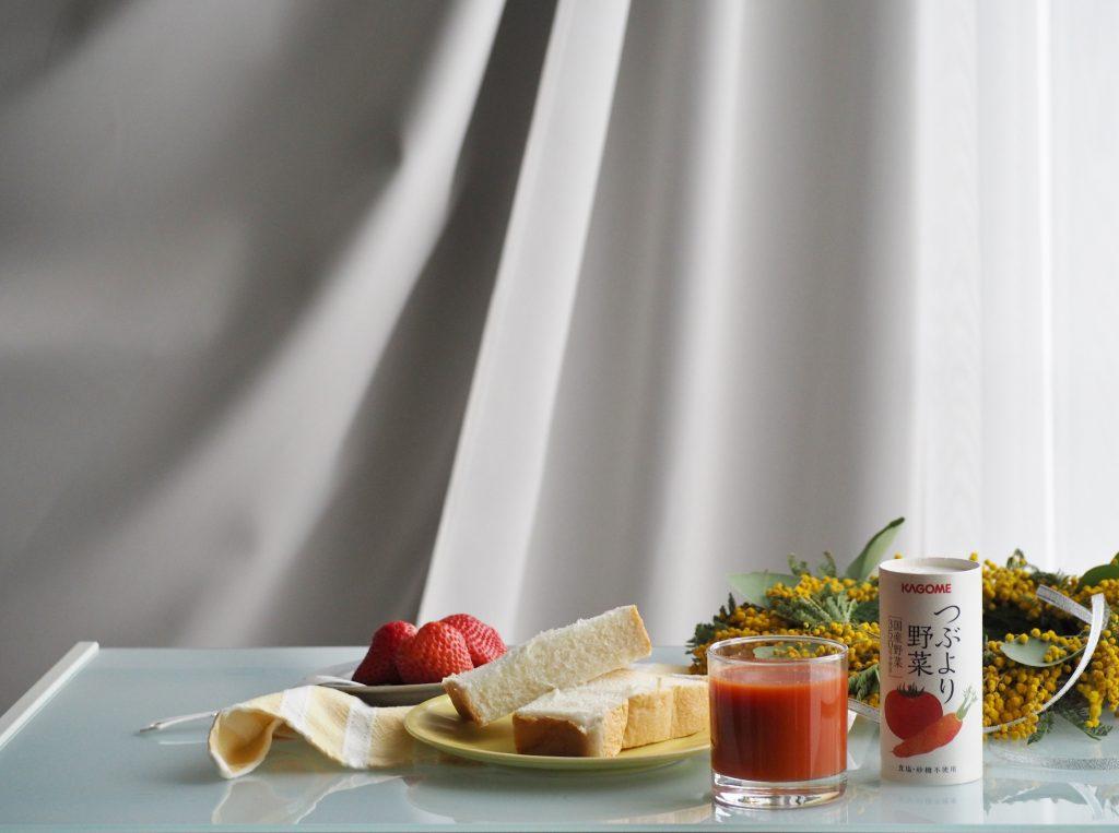 カゴメつぶより野菜の朝食