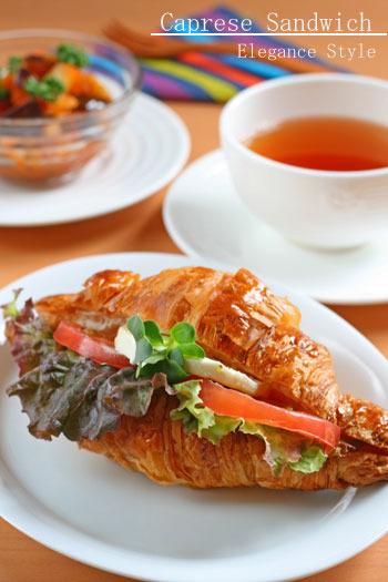 イタリアンな味わい☆ 「カプレーゼのサンドイッチ」