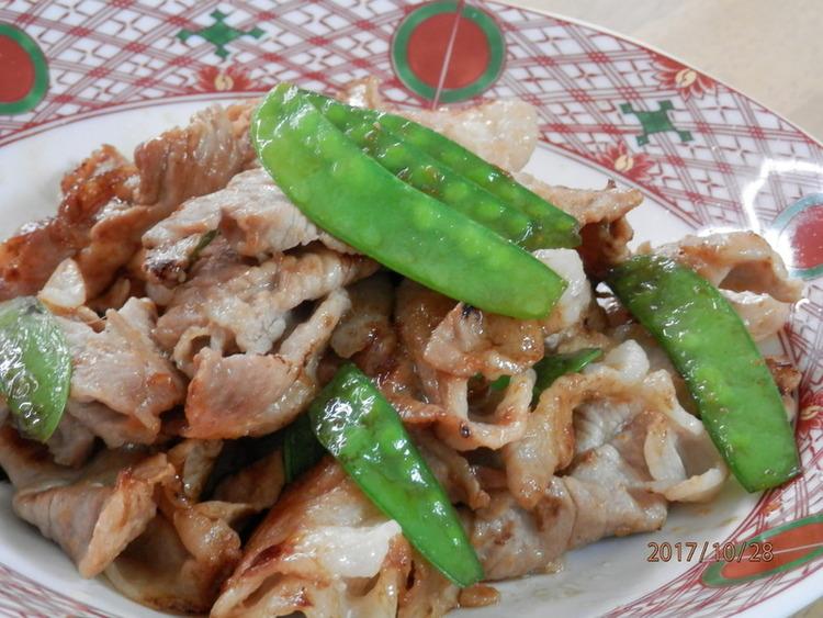 さやえんどうと豚肉の生姜焼き☆お弁当に♪ by:kaana57さん