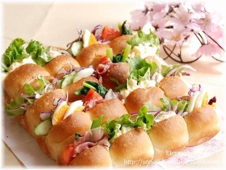 行楽パン弁当 ちぎりパンサンドウィッチ by:いたるんるんさん