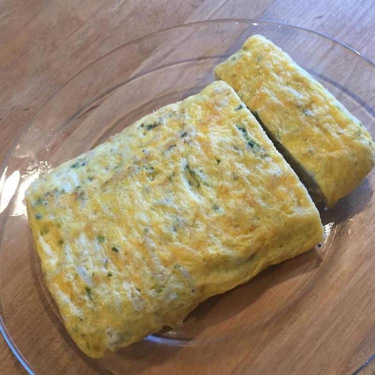 磯の香、シラスとあおさの卵焼き by:もこさん