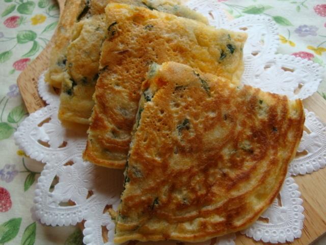 栄養満点☆「野菜とシラス入りパンケーキ」