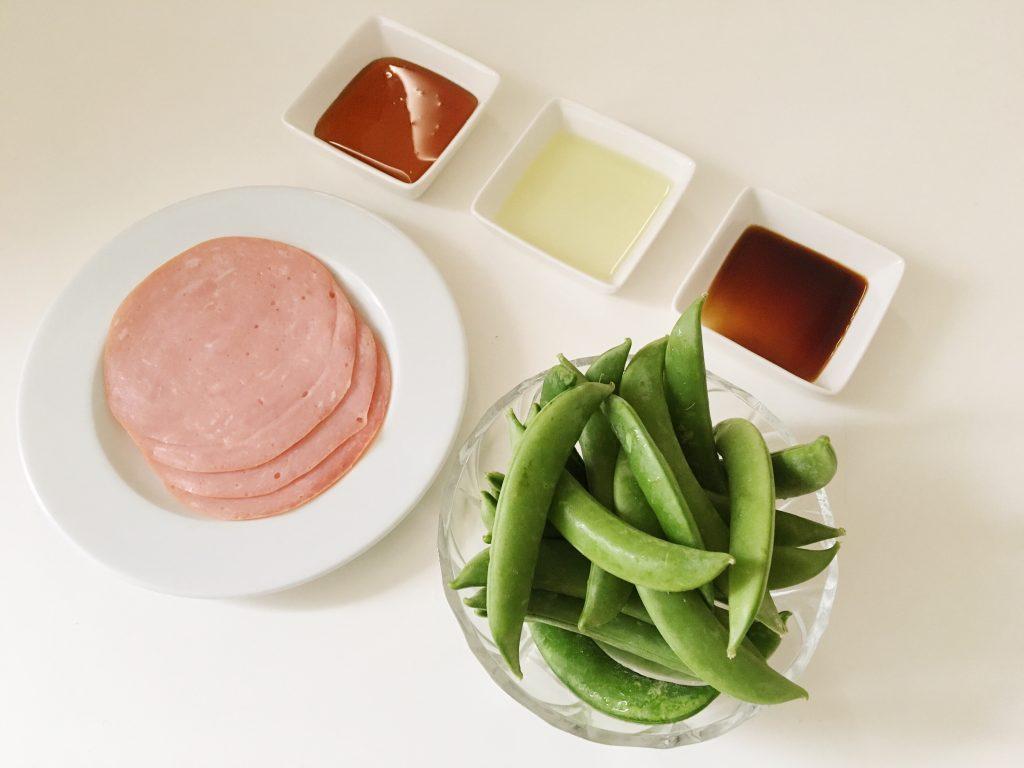 スナップエンドウの甘辛炒め 材料