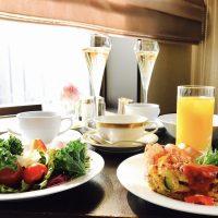 大阪で宿泊☆朝陽を浴びながらシャンパンを♪ホテル朝食♪【ウェスティンホテル大阪】①