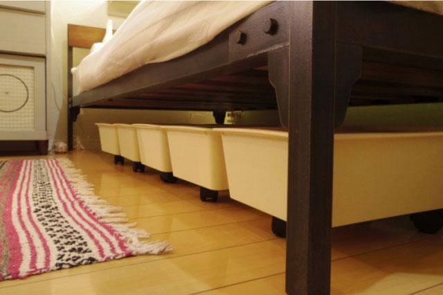もっと有効活用できそう♪「ベッド下収納」リアルなアイデア実例3つ