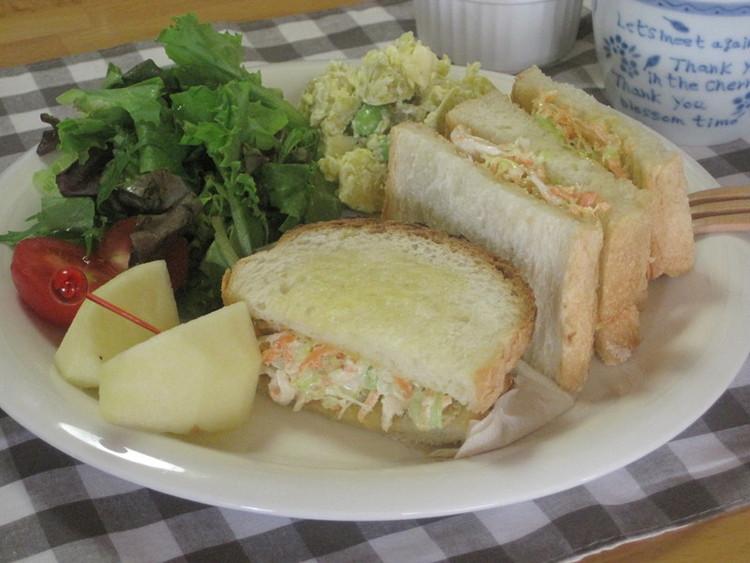 ささみのコールスローサンドイッチ by:メロンさん
