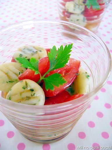 白玉もちもちニョッキのトマトサラダ♪ by:みぃさん