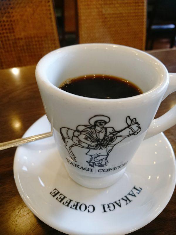 高木珈琲店高辻本店のモーニングコーヒー