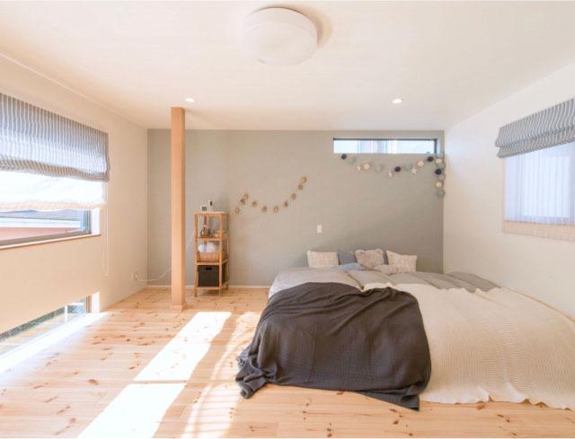 裸足で歩いて、寝転んで♪「無垢の床」が気持ちいい部屋