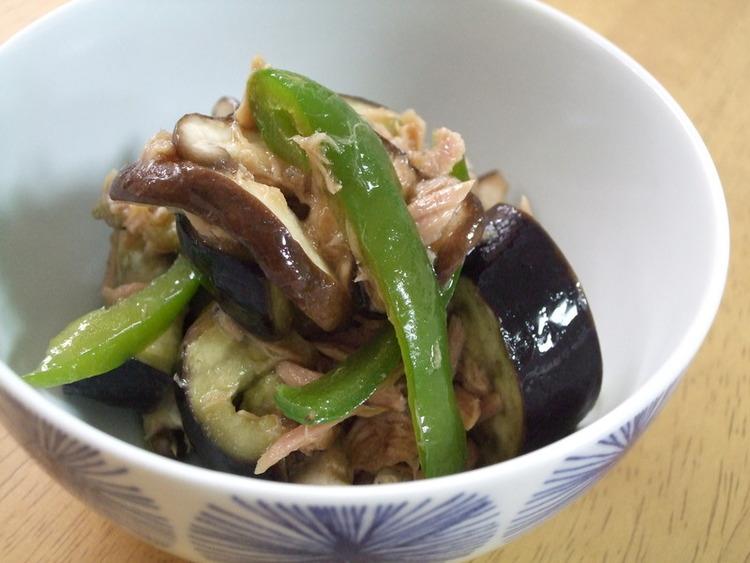 和総菜☆ナスと椎茸ピーマンごま油風味 by:kaana57さん