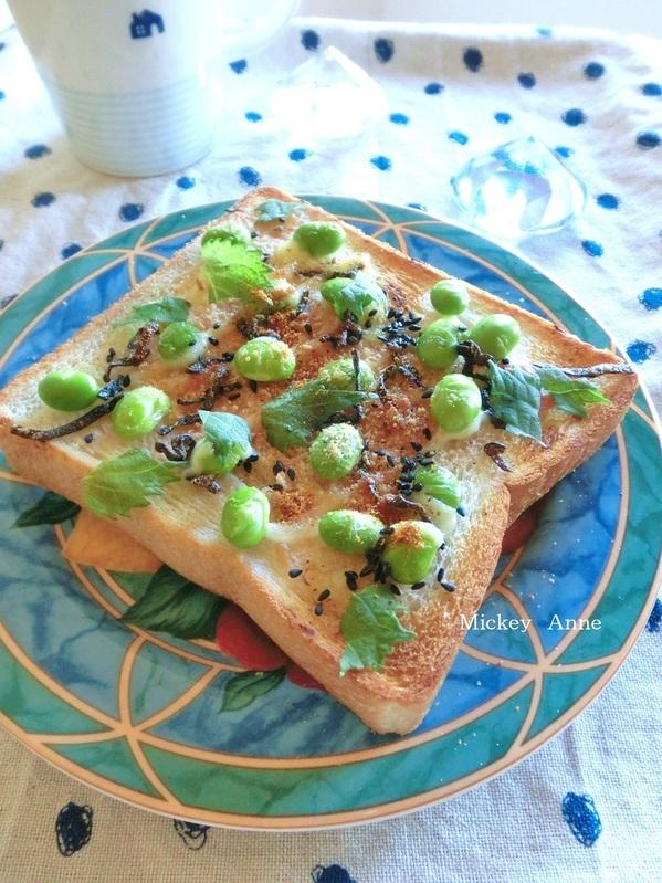 枝豆と梅と塩昆布のトースト by:Mickey Anneさん
