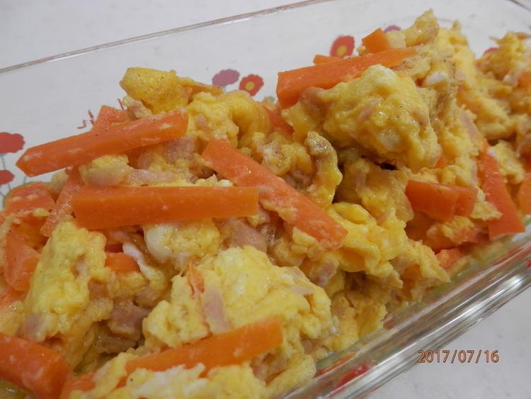 簡単アレンジ卵☆人参とツナのスクランブルby:kaana57さん