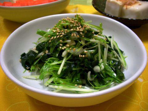 わかめと水菜のナムル by:マムチさん